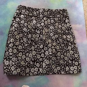 Metallic flower skirt